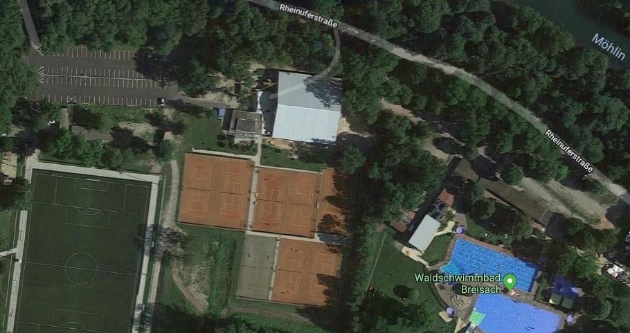 Anfahrt Tenis Breisach